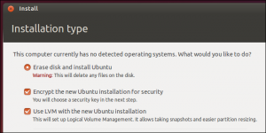 linux unified key setup