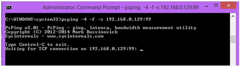 Troubleshooting networks with PSPing