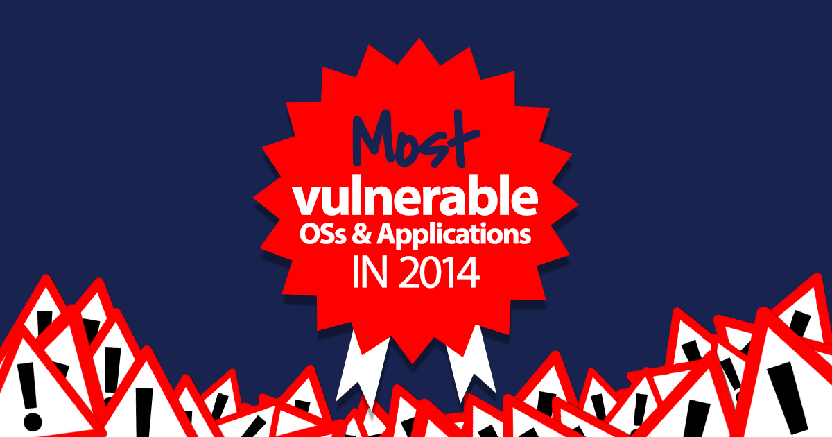 Most vulnerable operating systems and applications in 2014