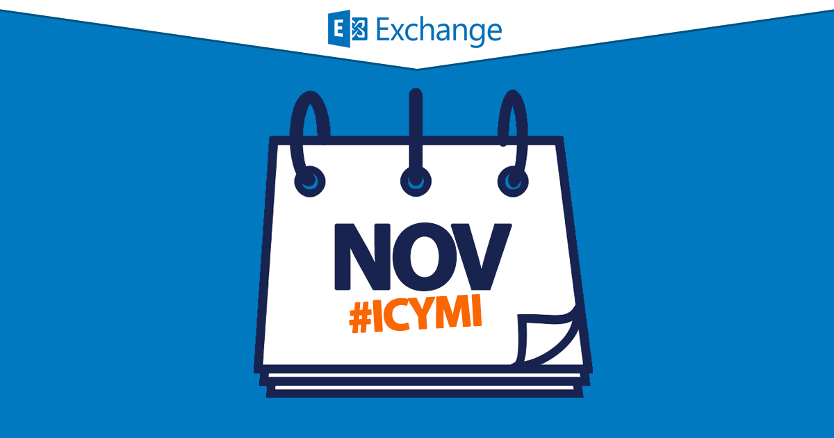 ICYMI: The Exchange month in review, November 2015