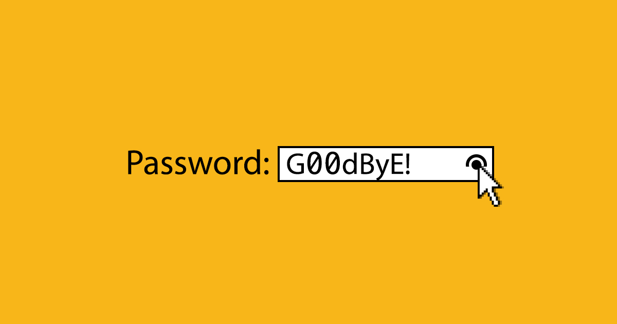 Image result for goodbye to passwords