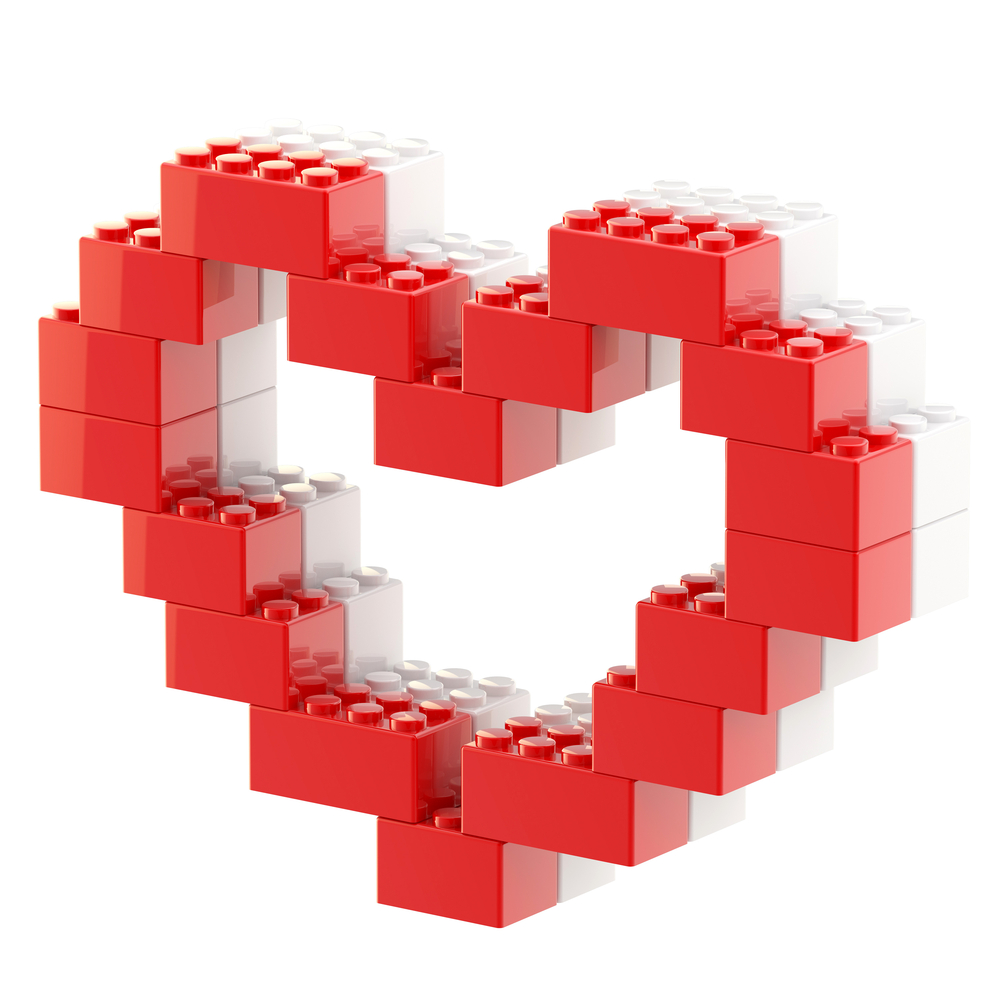 Valentines To Build With Legos